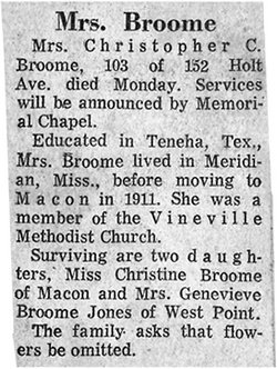 Georgia Mott Broome