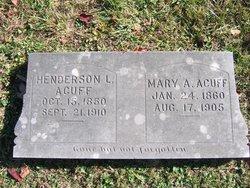 Mary A. <i>Fry</i> Acuff