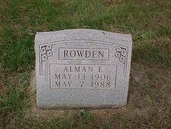 Alman E Rowden