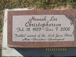 Hannah Lee <i>VanArsdale</i> Christopherson