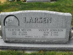 Violet <i>Johnson</i> Larsen