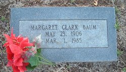 Margaret <i>Clark</i> Baum