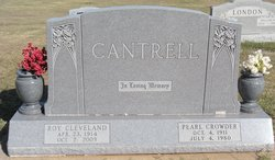 Pearl <i>Crowder</i> Cantrell