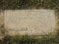 Mary <i>Wisner</i> Baxter