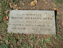 Mattie <i>Hickman</i> Meem