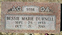 Bessie Marie Sissie <i>McDowell</i> Durnell