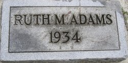 Ruth M. Adams