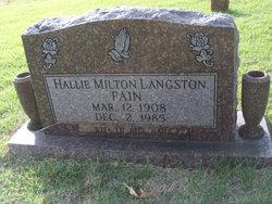 Hallie Milton <i>Langston</i> Fain