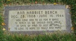 Ann Harriet Beach