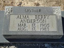 Alma <i>Berry</i> Anderson