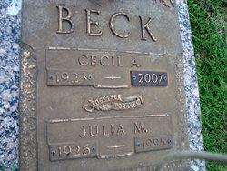 Julia Mabel <i>Elliott</i> Beck
