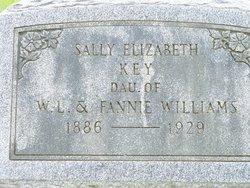 Sally Elizabeth Sarah <i>Williams</i> Key