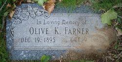 Olive K <i>Snyder</i> Farner