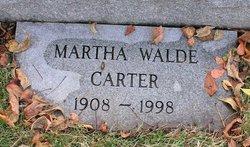 Martha Eleanor <i>Walde</i> Carter