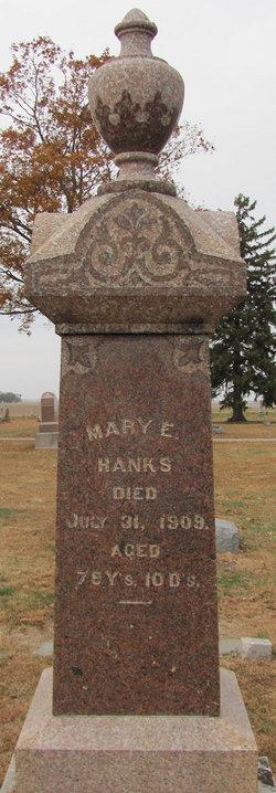 Mary E. <i>Zink</i> Hanks
