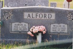 Willie Mae <i>Boothe</i> Alford