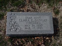 Clara E <i>Childers</i> Dunlap