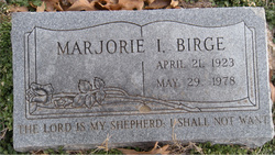 Marjorie Inez <i>Mabry</i> Birge