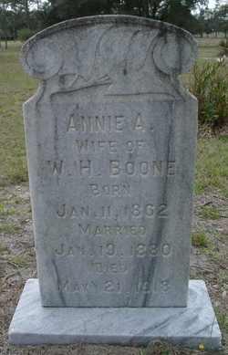 Amelia Ann Annie <i>Guthrie</i> Boone