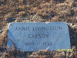 Annie Ethel <i>Livingston</i> Carson