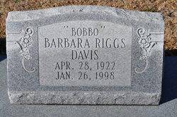 Barbara Bobbo <i>Riggs</i> Davis