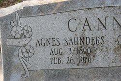Agnes <i>Saunders</i> Cannon