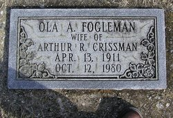 Ola A <i>Fogleman</i> Crissman