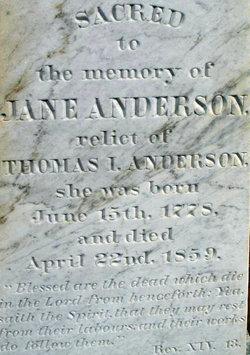 Jane <i>Kennedy</i> Anderson