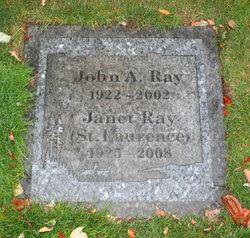 Janet <i>Sawyer</i> St. Laurence Ray