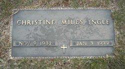 Christine <i>Miles</i> Ingle