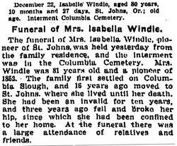 Isabella <i>Dodson</i> Windle
