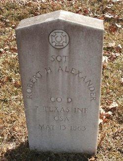 Sgt Robert H. Alexander