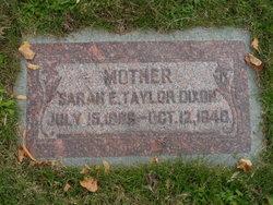 Sarah Ellen <i>Taylor</i> Dixon