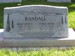 Marie <i>Johnston</i> Randall