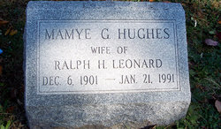 Mamye G <i>Hughes</i> Leonard