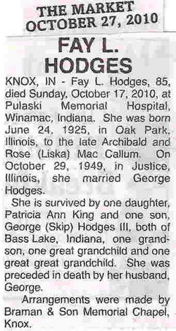Fay L. <i>MacCallum</i> Hodges