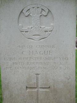 Gunner Cyril Hague