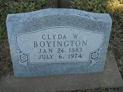 Clyda W Boyington