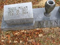 Madie <i>Milam</i> Allen