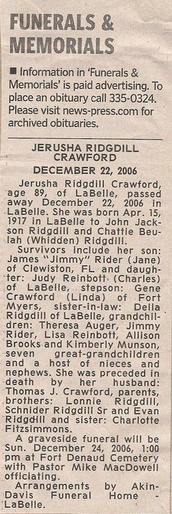 Jerusha <i>Ridgdill</i> Crawford