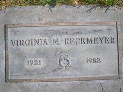 Virginia M Reckmeyer