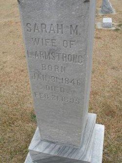 Sarah M <i>Sharp</i> Armstrong