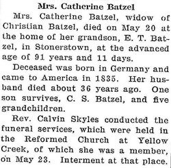 Catherine <i>Benner</i> Batzel