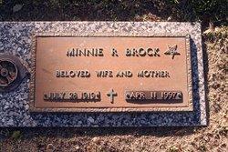Minnie R Brock