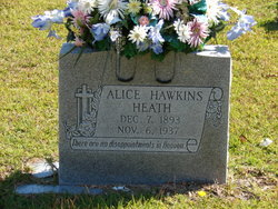 Alice <i>Hawkins</i> Heath