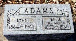 Effie <i>Modlin</i> Adams