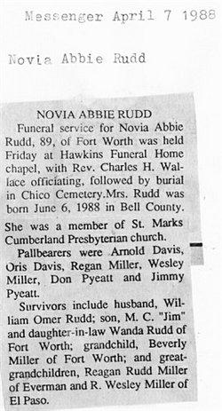 Novia Abbie <i>Pyeatt</i> Rudd