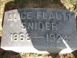 Alice <i>Flautt</i> Snider
