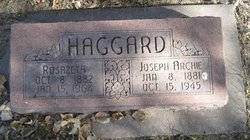 Joseph Archibald Archie Haggard