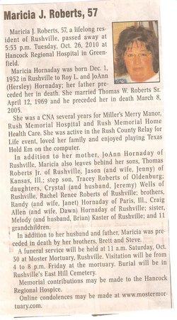 Marcia J. <i>Hornaday</i> Roberts